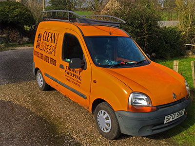 Chimney sweep van